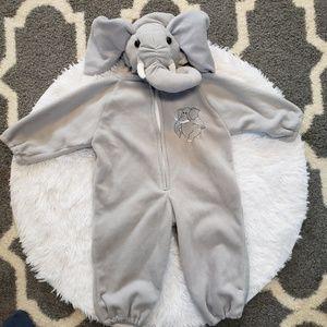 Toddler Elephant One Piece Zip Halloween Costume